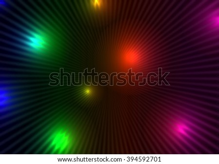 glowing circles on a dark background, neon glow, green blue red yellow abstract,  background  texture