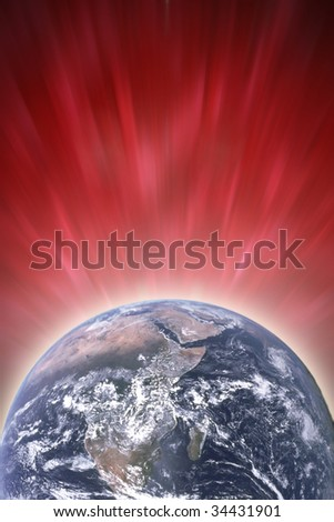Glowing Earth, photo of the Earth from NASA