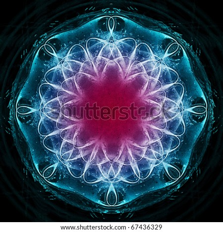 Glowing flower star - stock photo