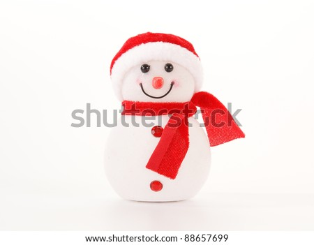 Glowing from within snowman. Christmas decoration - stock photo