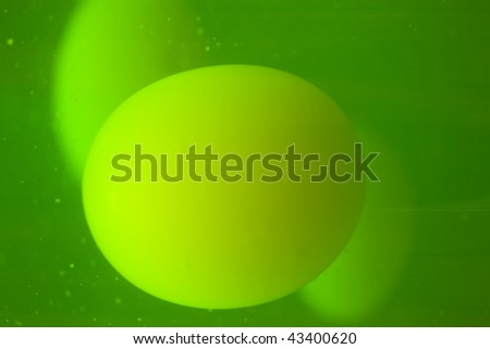 Glowing green and yellow lava lamp background