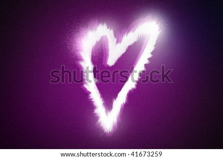 Glowing Heart. - stock photo