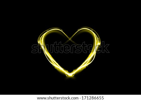 Glowing heart illustration for Valentine's Day - stock photo