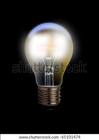 glowing light bulb - stock photo
