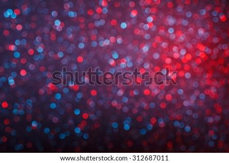 Glowing lights bokeh background - stock photo
