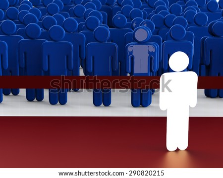 glowing man with differentiate concept - stock photo