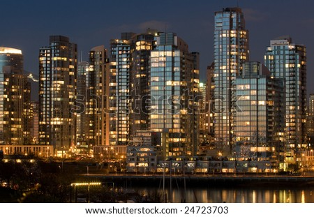 Glowing Metropolis - stock photo