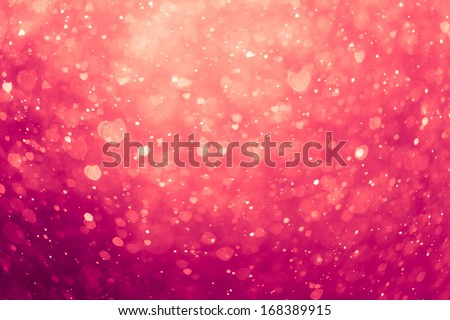 glowing pink hearts background - stock photo