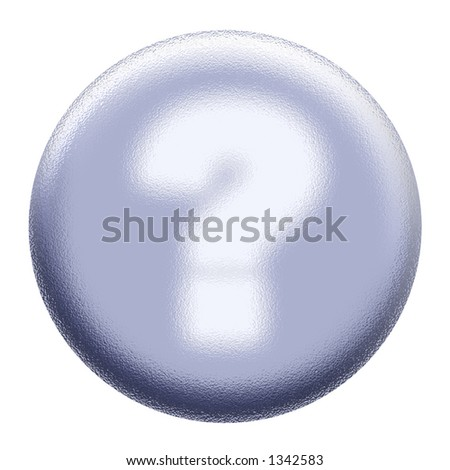 Glowing question mark - stock photo