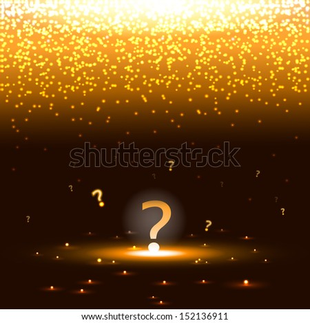Glowing question mark with sparks - stock photo