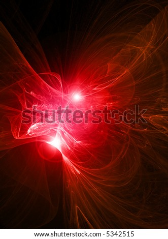 Glowing red abstract