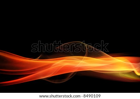 Glowing red abstract background - stock photo