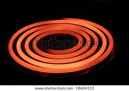 Glowing stove coil - stock photo