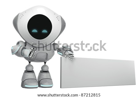 Glowing white robotic promoter