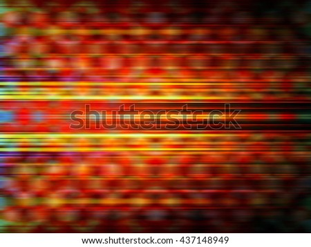Glowing yellow and orange light streaks with a blurred pattern background