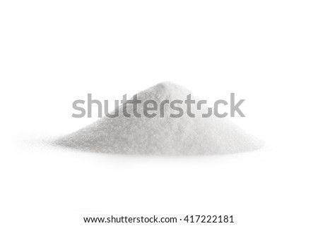 Glucosamine supplement powder on white - stock photo