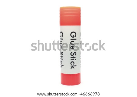 Glue stick isolated on white