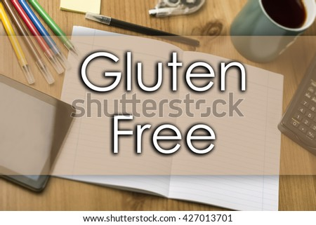 Gluten free - business concept with text - horizontal image