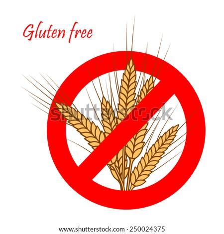 Gluten free sign. - stock photo