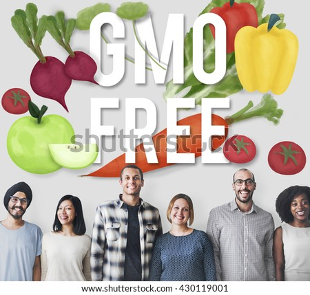 GMO Free Genetically Modified Organism Healthy Concept - stock photo