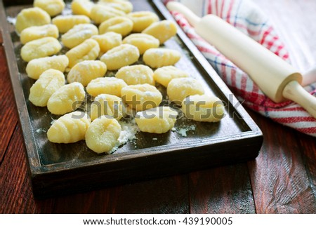 gnocchi - stock photo