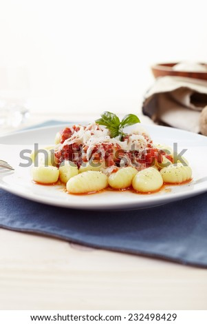 Gnocchi pasta with tomato sauce - stock photo
