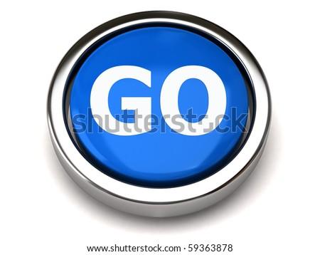 GO button - stock photo