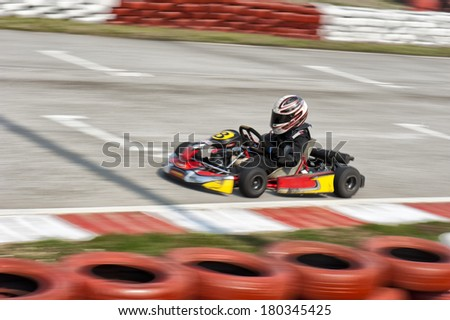 Go-cart panning - stock photo