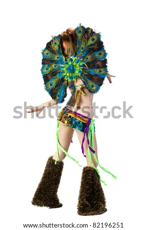 Go Go dancer in stage costume