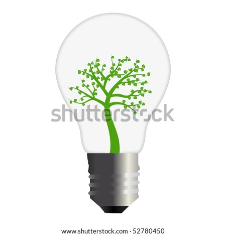 Go Green Bulb - stock photo