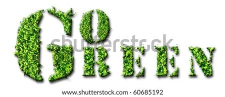 Go Green concept design - stock photo