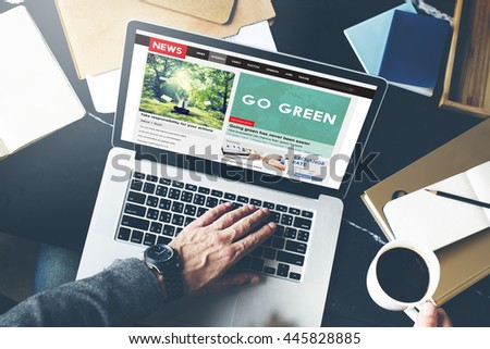 Go Green Ecology Environment Natural Concept - stock photo