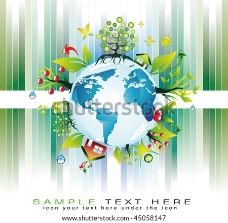 Go Green Global Nature Safety Background for  Eco Flyers Project