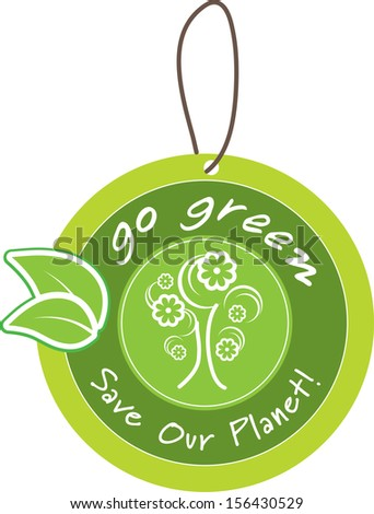 Go green icon label