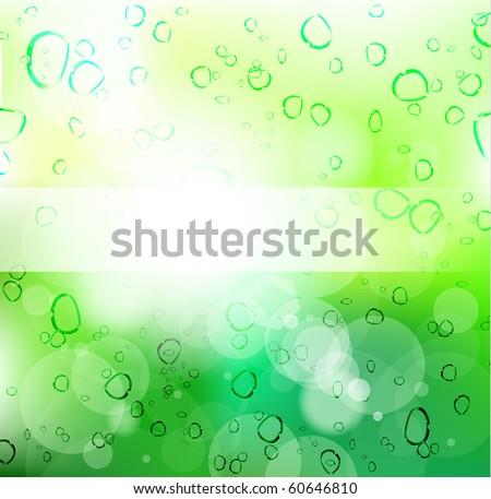 Go Green Slogan For Environmental Cover or Brochures - stock photo