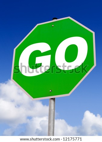 Go Green! Would be great for eco-friendly advertising - stock photo