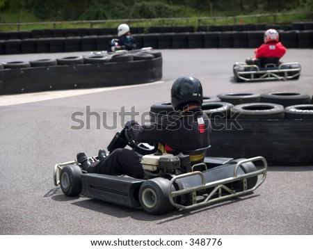 Go-Karting - stock photo