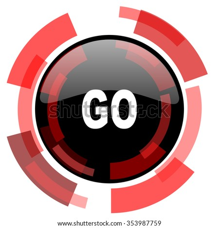 go red modern web icon
