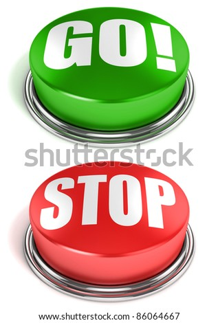 go stop buttons - stock photo
