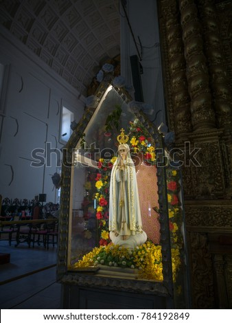 Holding Jesus Mary Statue Stock Images Royalty Free