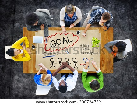 Goal Expectation Target Mission Aim Concept - stock photo