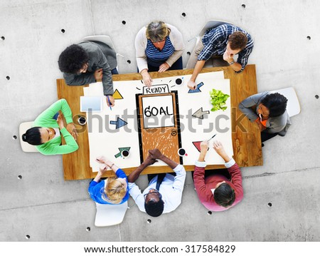 Goal Expectations Aim Opportunity Success Concept - stock photo