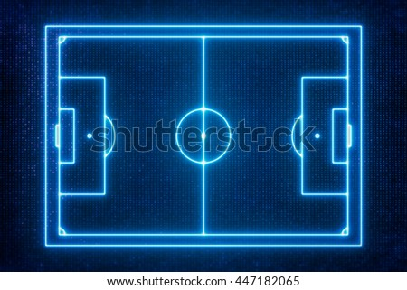 Goal Line Technology , Top view of soccer field or football field - stock photo