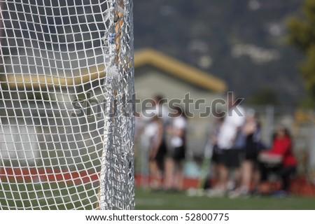 Goal Net - stock photo