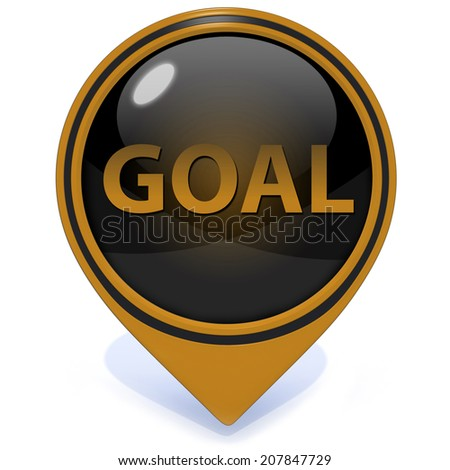 Goal pointer icon on white background