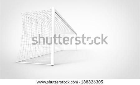 Goal post - stock photo
