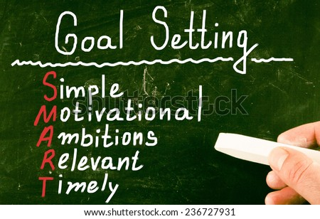goal setting concept - stock photo