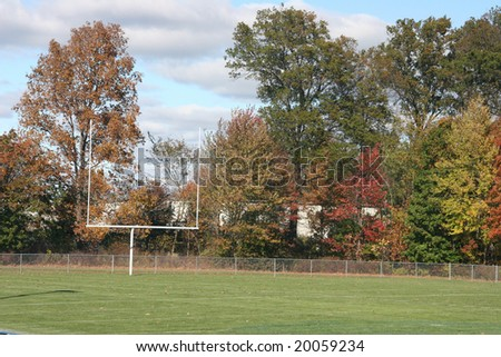 goal stand at football field