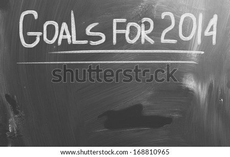 Goals For 2014 Concept - stock photo