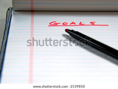 Goals on Paper - stock photo